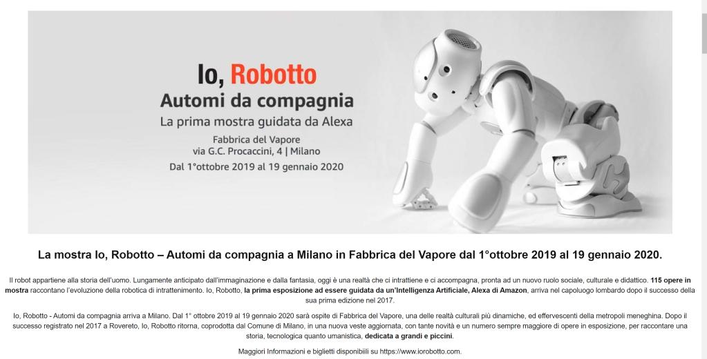 Io, Robotto, mostra di Robot.
